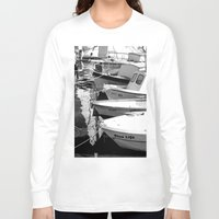 boats Long Sleeve T-shirts featuring boats by habish