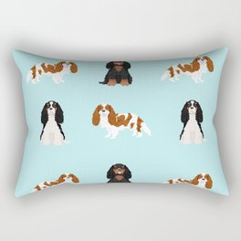 Cavalier King Charles Spaniel mixed coats dog breed must have cavalier spaniels gifts Rectangular Pillow