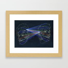 The Model, The Architect - A Framed Art Print