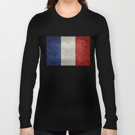 Flag of France, vintage retro style Long Sleeve T-shirt
