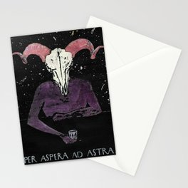 Per Aspera ad Astra Stationery Cards