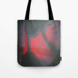 TRANSITORY RED LIGHT SHADOW ABSTRACT Tote Bag