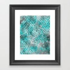 Aqua Raindrops Framed Art Print