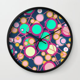 Colorful networks Wall Clock