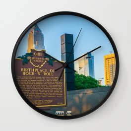 Cleveland Ohio Rock and Roll Hall of Fame Gift Ideas Wall Clock