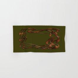 Art Nouveau  forest  green gold horizontal  Hand & Bath Towel