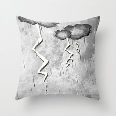 There's a storm a brewin Throw Pillow