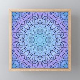 Blue Stained Glass Mandala Framed Mini Art Print