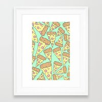 pizza Framed Art Prints featuring Pizza by Evan Smith