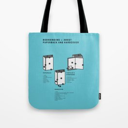 Bookbinding – About Paperback and Hardcover (in English) Tote Bag