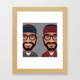 Comics of Comedy: Lucas Brothers Framed Art Print