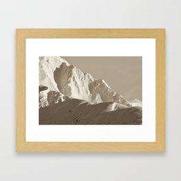 Alaskan Mts. - Mono I Framed Art Print
