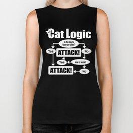 Cat Logic: Attack! Biker Tank