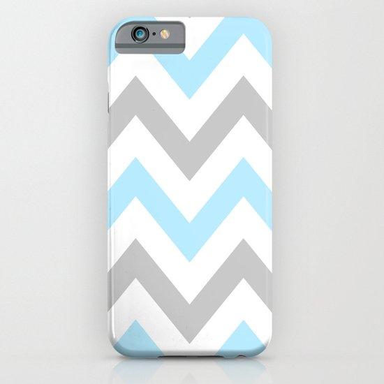 BLUE & GRAY CHEVRON iPhone & iPod Case