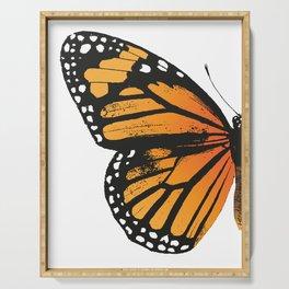 Monarch Butterfly | Left Butterfly Wing | Vintage Butterflies | Serving Tray