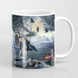Valkyrie and Crows Coffee Mug