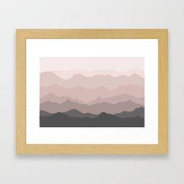 Pink Mountains Framed Art Print
