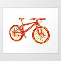 Mountain Bike in Vivid Colors Art Print