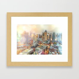 All Those Lights, They Shine For You - New York City Framed Art Print