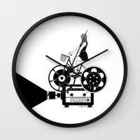 cinema Wall Clocks featuring Cinema Paradiso by Henn Kim
