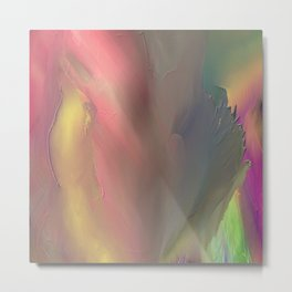 Abstract Spectrum Square by Leslie Harow Metal Print