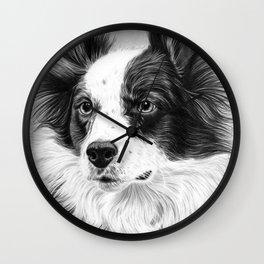 Dog Portrait 02 Wall Clock