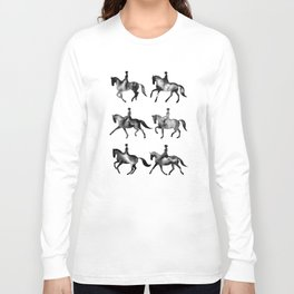 Dressage Horse Silhouettes Long Sleeve T-shirt