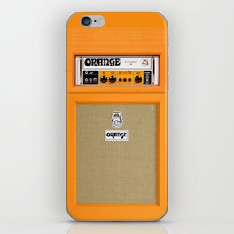 Bright Orange color amplifier amp iPhone Skin