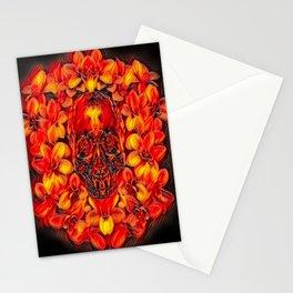 Voodoo Fire Skull Stationery Cards