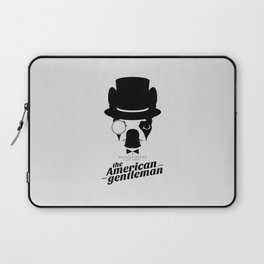 Boston Terrier: The American Gentleman. Laptop Sleeve