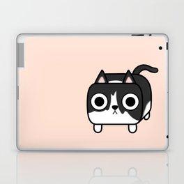 Cat Loaf - Tuxedo Kitty - Black and White Laptop & iPad Skin