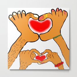 For love by hands and feet Metal Print