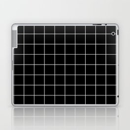 Grid Pattern Line Stripe Black and White Minimalist Geometric Stripes Lines Laptop & iPad Skin