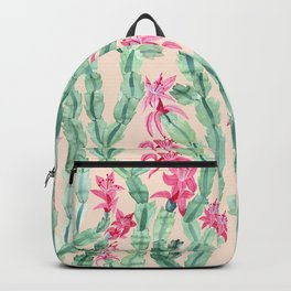 Pink Christmas Cactus Backpack