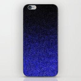 Blue & Black Glitter Gradient iPhone Skin