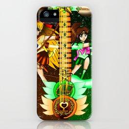 Fusion Sailor Moon Guitar #20 - Sailor Venus & Sailor Jupiter iPhone Case