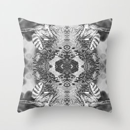 bees black and white Throw Pillow