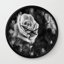 Pink Roses in Anzures 1 B&W Wall Clock