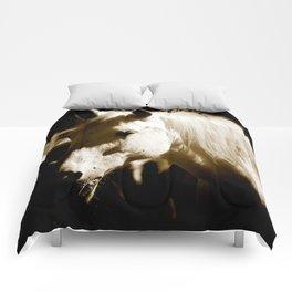 White Horse-Sepia Comforters