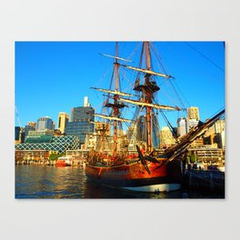 Boat in Sydney Canvas Print