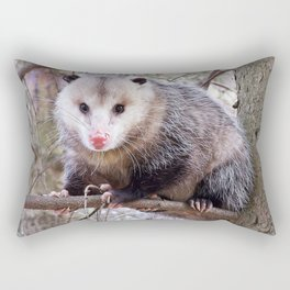 Possum Staredown Rectangular Pillow