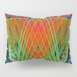 A Psychedelic Hand of Cards Pillow Sham