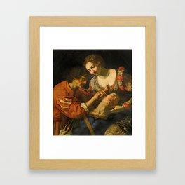 Jacopo Vignali (Pratovecchio 1592–1664 Florence) Samson and Dalila, Framed Art Print