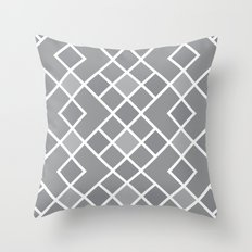 Geometric Diamond Grey Throw Pillow