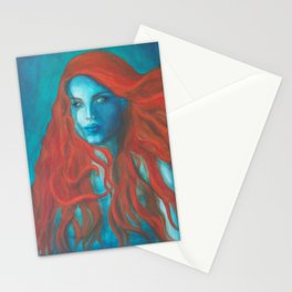 Blue Mermaid Stationery Cards