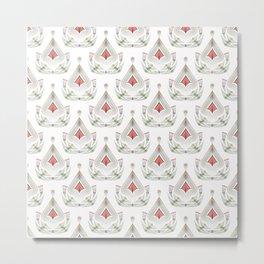 Geometric pattern . Colorful art Deco . No. 60, Metal Print