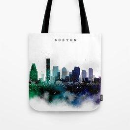 Boston City Skyline Tote Bag
