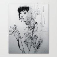 cyberpunk Canvas Prints featuring Cyberpunk Self by Jenna V Genio
