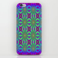 psychedelic art iPhone & iPod Skins featuring PSYCHEDELIC flowers by 2sweet4words Designs