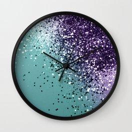 Mermaid Glitter Dream #1 #shiny #decor #art #society6 Wall Clock